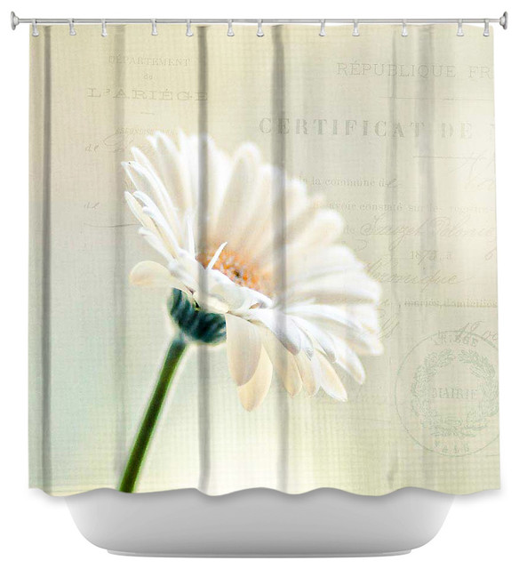 Shower Curtain Unique From DiaNoche Designs   Daisy Contemporary Shower  Curtains  Contemporary Shower Curtains