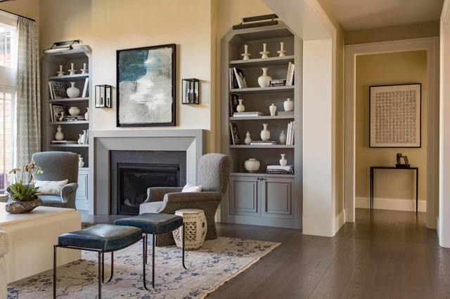 A new england style transitional for New england style living room