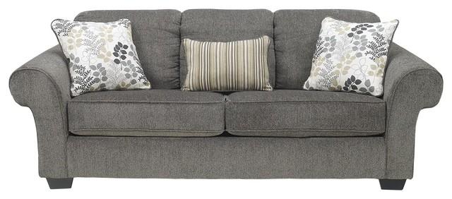 Super Ashley Makonnen Queen Sofa Sleeper Charcoal Machost Co Dining Chair Design Ideas Machostcouk