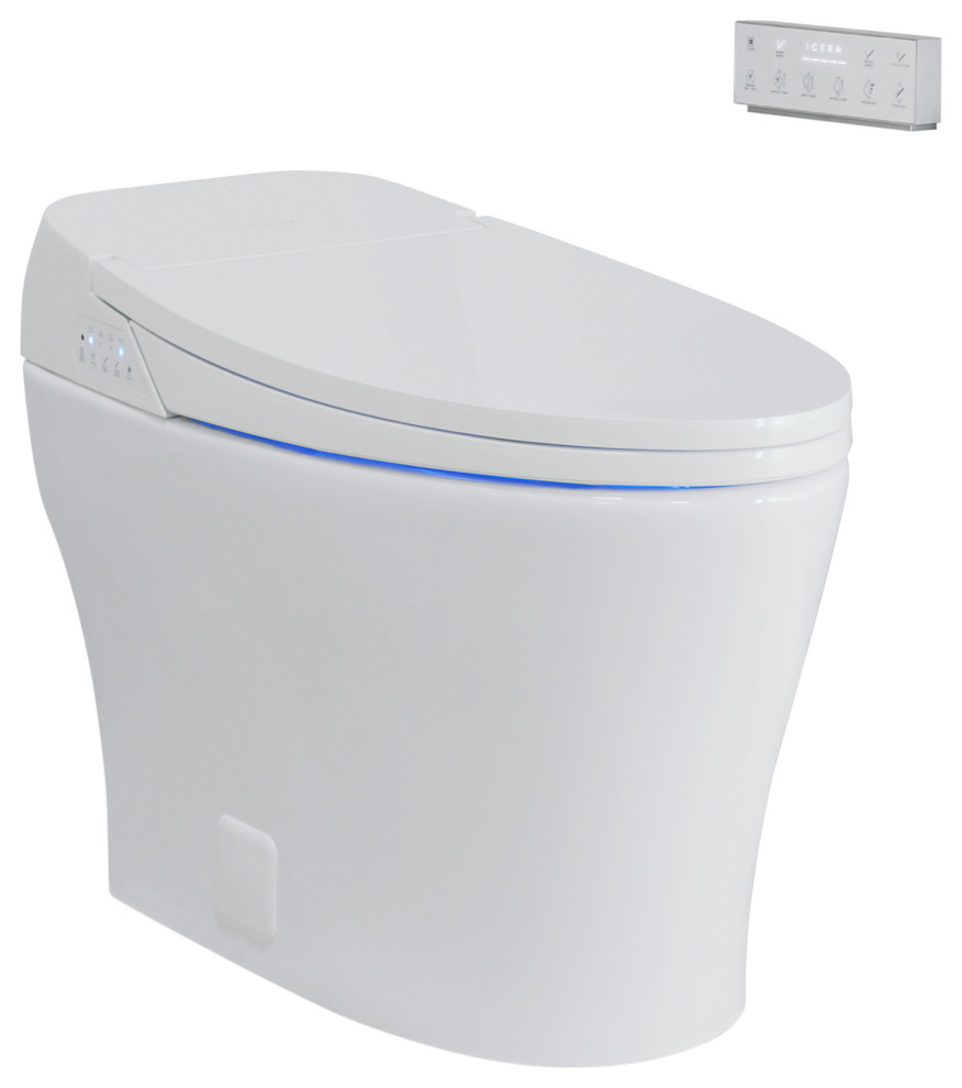 Muse Iwash Integrated Intelligent Bidet Elongated Toilet Contemporary Toilets By Icera Usa