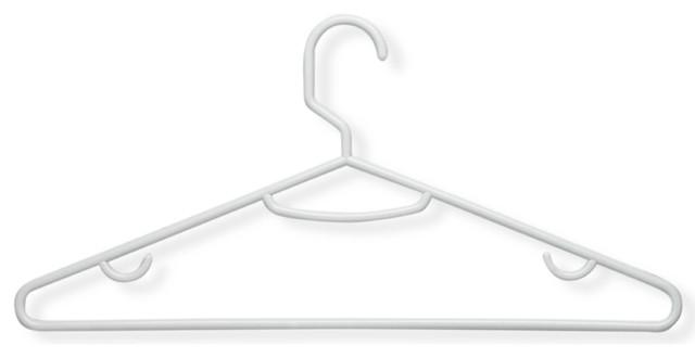 Honey Can Do 60 Pack Lightweight Tubular Hanger, Recycled White