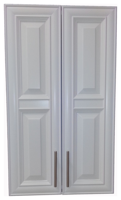 "Edison 42"" 2-Door On The Wall Frameless Medicine Cabinet, 3.5""d, White."