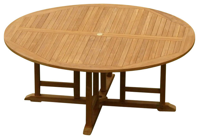 72 Round Dining Outdoor Teak Table Contemporary Outdoor