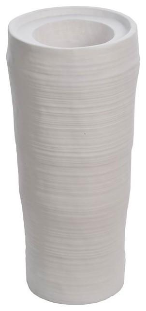 """29"""" Tall Oval Planter in Fiberstone Indoor/Outdoor"""