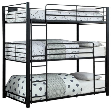 c3db76e17c29e Furniture of America Botany Modern Twin Triple Bunk Bed