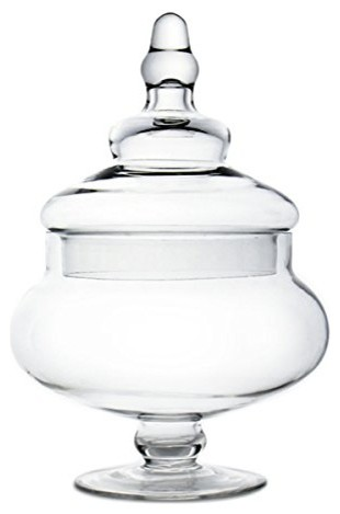 Glass Apothecary Candy Buffet Jars. 10, Body 5.25.
