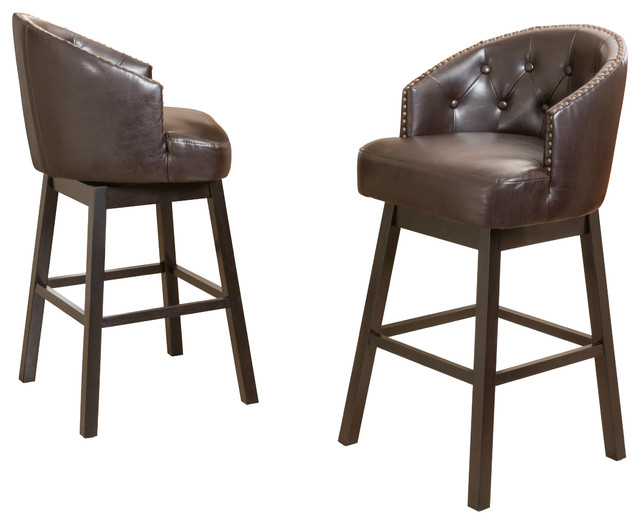 westman swivel bar stools set of 2 brown