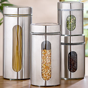 kitchen glass storage containers glass storage jars sets of 2 storage containers 4915