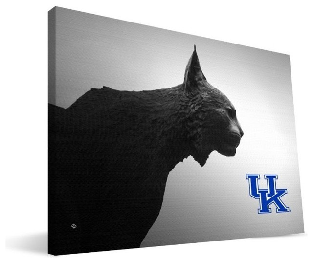 University Of Kentucky Wildcats Wildcat Statue Canvas Print. -1