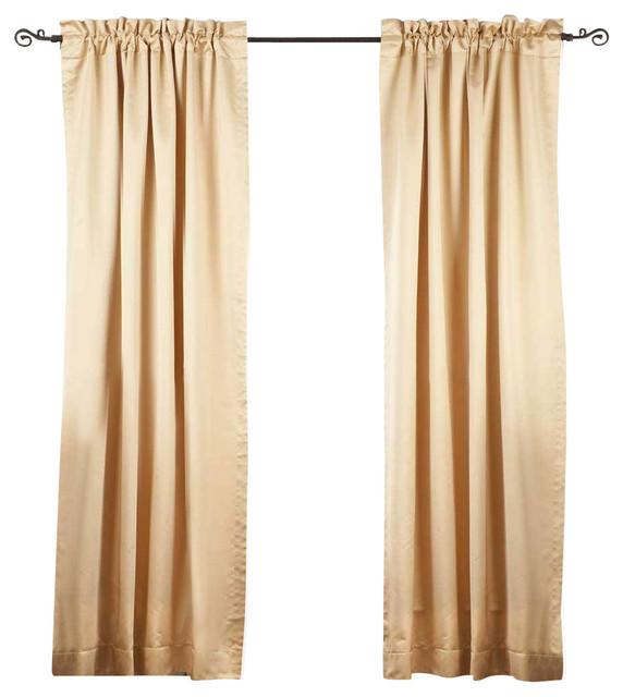 Golden Rod Pocket 90% Blackout Curtain, Drape And Panel, 50x96, Piece.
