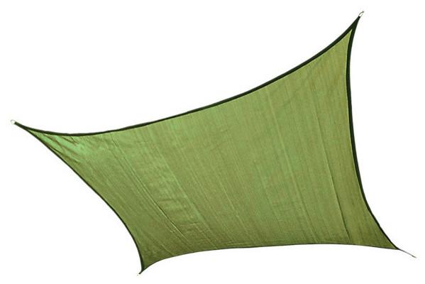 Shadelogic Sun Shade Sail Heavy Weight Square, Lime Green, 16&x27;.