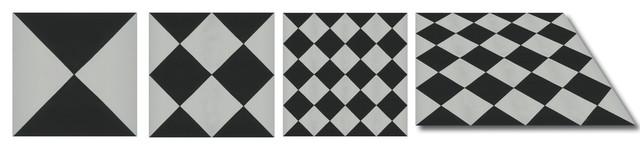 "7.88""x7.88"" Elgar Cement Tile, Set Of 12."