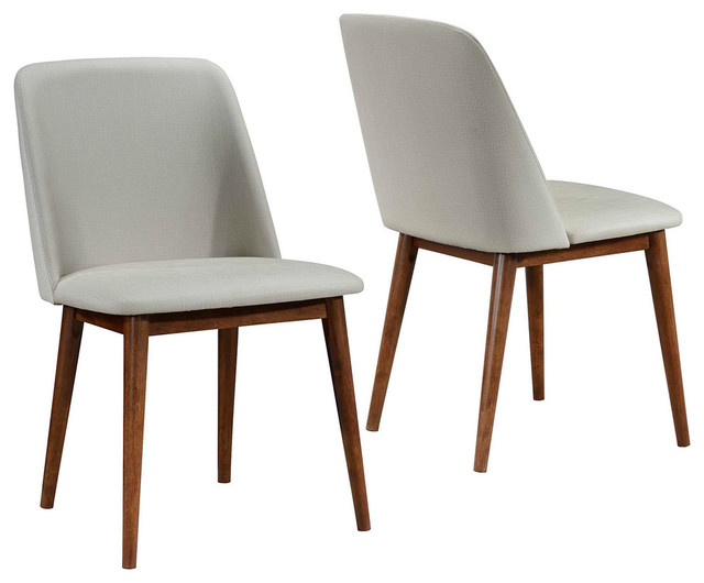 Tremendous Coaster Barett Mid Century Modern Dining Chairs Set Of 2 Ibusinesslaw Wood Chair Design Ideas Ibusinesslaworg
