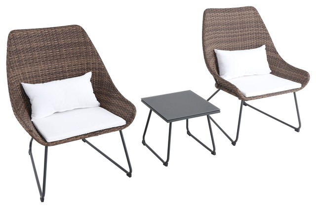 Astonishing Montauk 3 Piece Wicker Scoop Chat Set Cushions White Andrewgaddart Wooden Chair Designs For Living Room Andrewgaddartcom