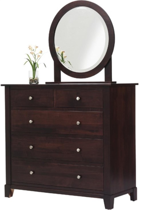 Greenwich Dressing Chest With Round Mirror