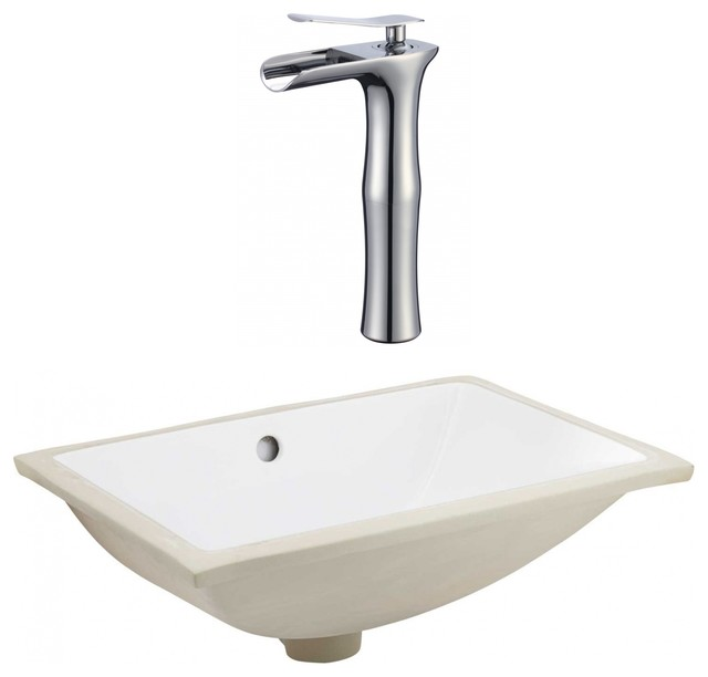 Csa Rectangle Undermount Sink Set Chrome Hardware With