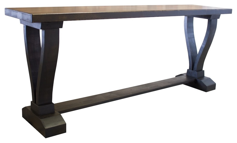 Vera Trestle Console Table Transitional Console Tables By James And James Furniture