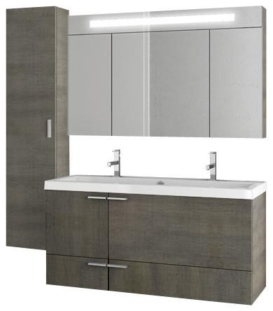 Double Bathroom Vanity Set Gray Oak 47 Modern Vanities
