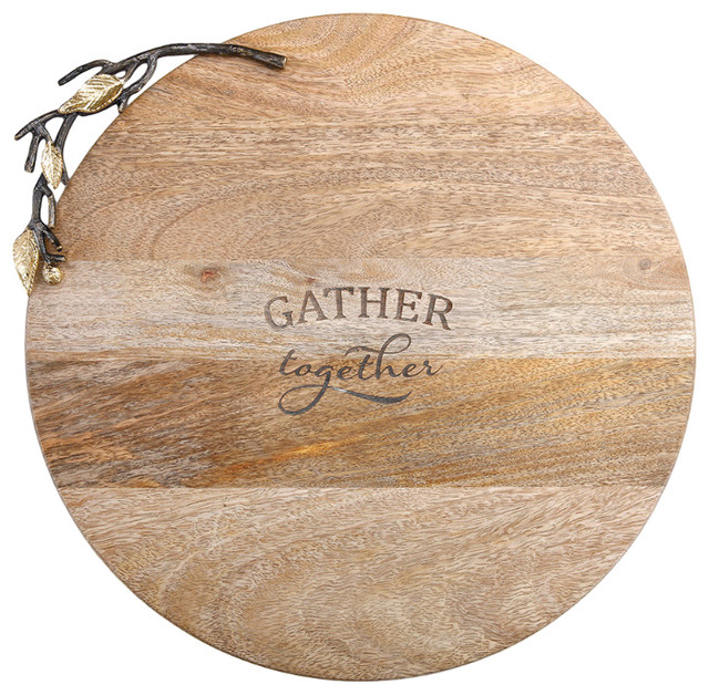 Gather Together Wooden Lazy Susan