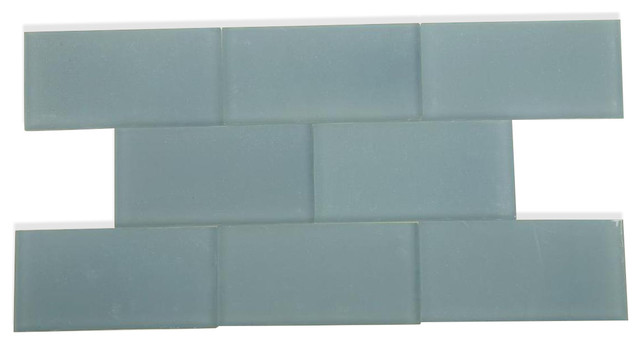 3 X6 Loft Blue Gray Frosted Gl Tile