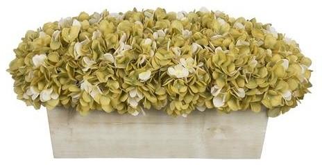 Artificial sagecream hydrangea in white washed wood ledge artificial sagecream hydrangea in white washed wood ledge mightylinksfo