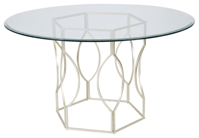Hex Dining Table With Glass Top Transitional Dining  : transitional dining tables from www.houzz.com size 640 x 444 jpeg 34kB