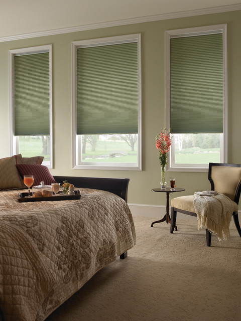 1 2 single cell blackout honeycomb shade traditional bedroom houston by Window coverings for bedrooms
