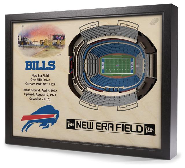 Buffalo Bills Ralph Wilson Stadium 3 D Wall Art Contemporary Game Room