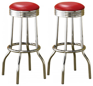 Excellent Emma Mason Signature Tiffany Metal Bar Stool In Red Set Of 2 Contemporary Bar Stools And Counter Stools By Emma Mason Machost Co Dining Chair Design Ideas Machostcouk