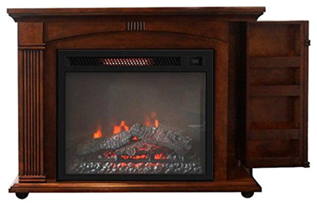 Libriux Contemporary Portable Rolling Infrared Fireplace Modern Indoor Fireplaces By Bold