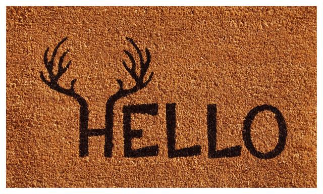 Antler Hello Doormat 17x29.