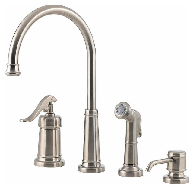 Pfister Lg26 4yp Ashfield Kitchen Faucet Tuscan Bronze Traditional Kitchen Faucets By