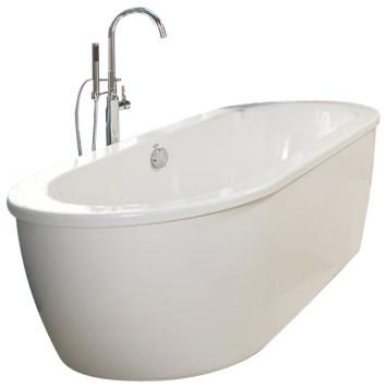 American Standard Cadet 66 Quot Acrylic Soaking Bathtub Tub