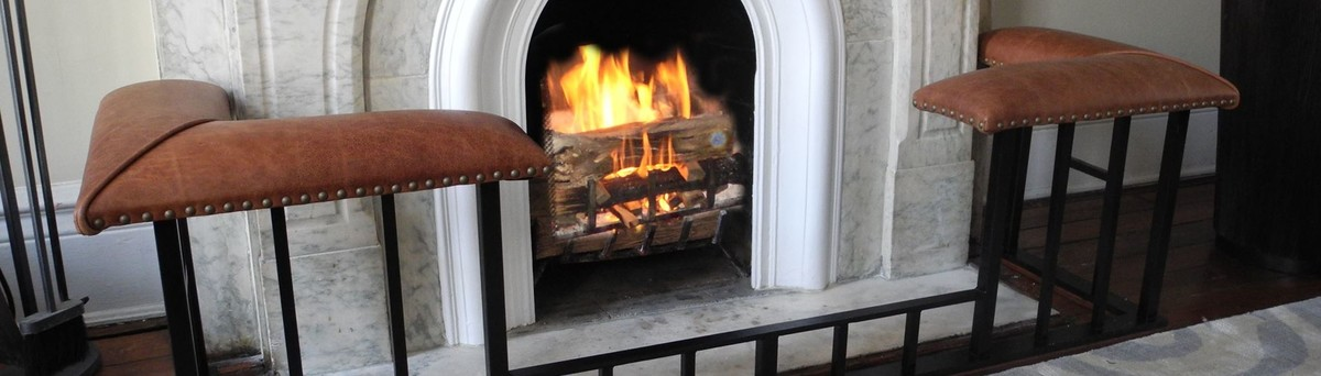 Old English Fireplace Benches - New Canaan, CT, US 06840
