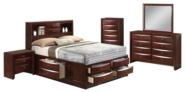 acme furniture acme ireland 4 piece bedroom set bedroom furniture sets houzz