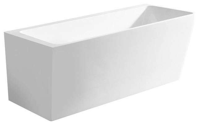 "67"" Vigo Reclining Freestanding Bathtub, White."
