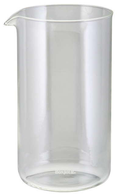 Coffee French Press Glass Replacement Carafe, 8-Cup.