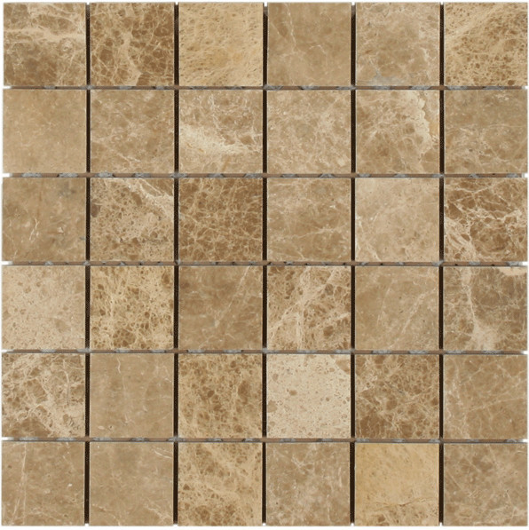 12 X12 Msi Emperador Light Polished Marble Mosaic Small Piece Sample Traditional
