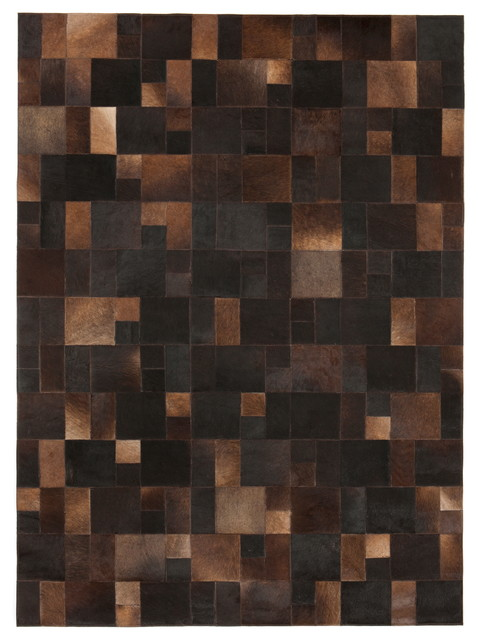Brilliant Brown Leather 6 X9 8 Area Rug Contemporary