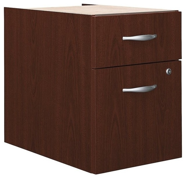 BBF - Bush BBF Series C 2-Drawer 3/4 Pedestal in Mahogany - View in Your Room! | Houzz