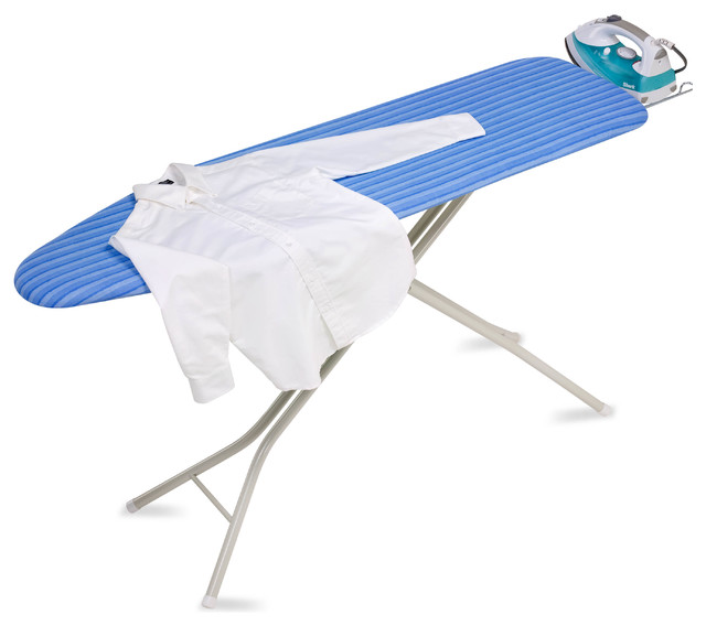 Honey Can Do Brd-01956 4-Leg Ironing Board With Retractable Iron Rest.