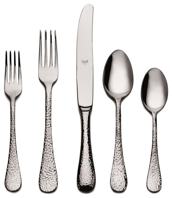 Mepra epoque cutlery set 20 piece stainless steel 106822020 contemporary flatware and - Contemporary stainless flatware ...