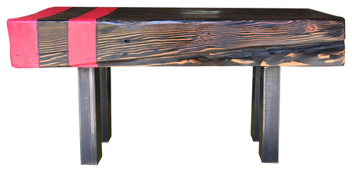 Ebony Sitting Bench, Red Stripe