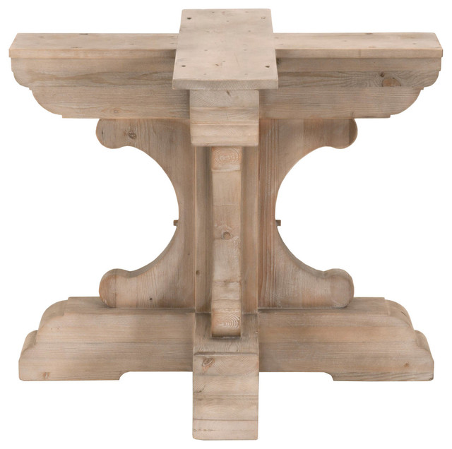 Bastille Round Dining Table Base Smoke Gray Pine Traditional Tops And Bases By Orient Express Furniture