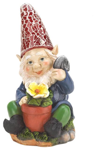 Koehler Home Decor Gardening Gnome Solar Garden Statue