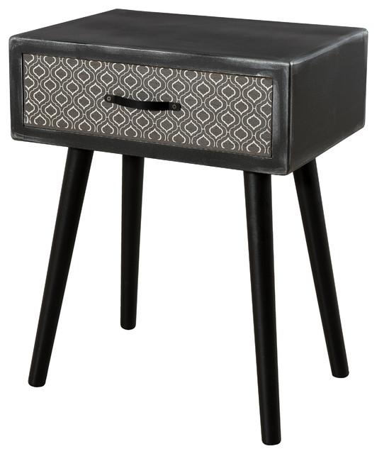 Leon 1-Drawer Bedside Table