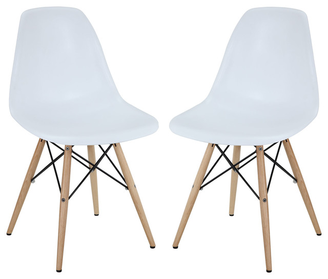 Pyramid Dining Side Chairs Set Of 2 White