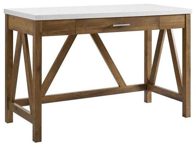 Marble Farmhouse Style Office Desk