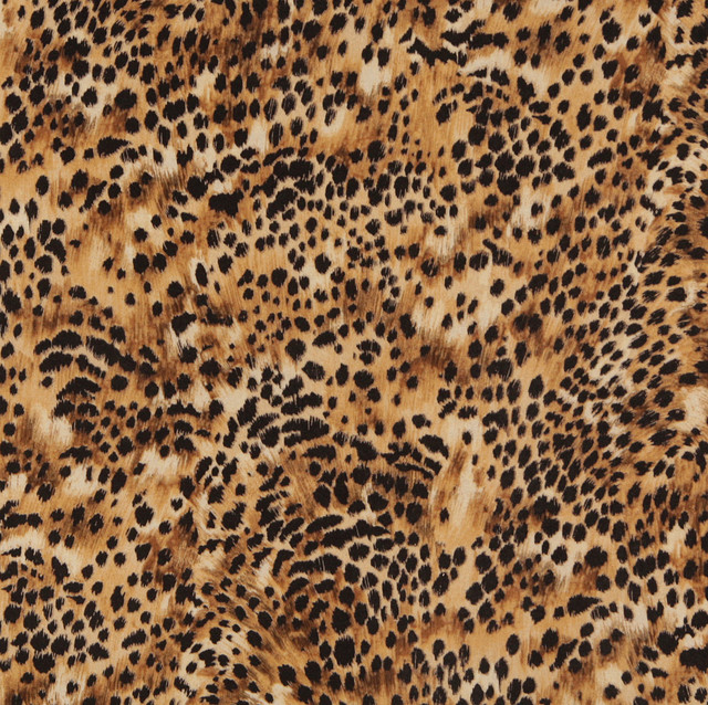 E421 Cheetah Animal Print Microfiber Fabric