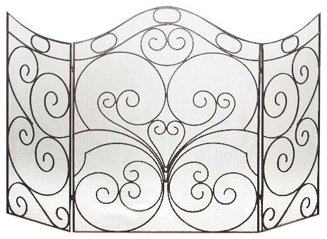 "30""x30"" Bear Creek Arched Fireplace Screen"